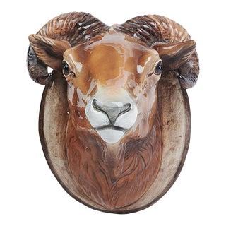 Vintage Ceramic Ram's Bust