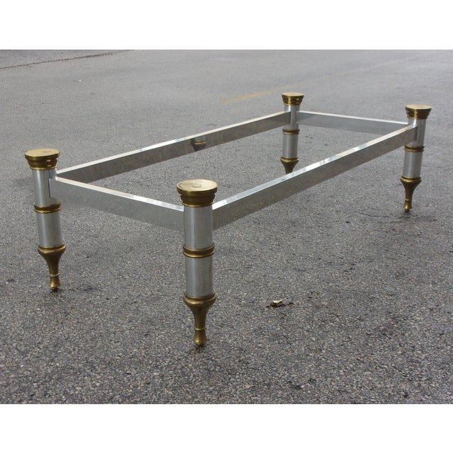 Mid-Century Aluminum & Brass Coffee Table - Image 5 of 11