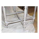 Image of Antique White Shabby Chic Side Table