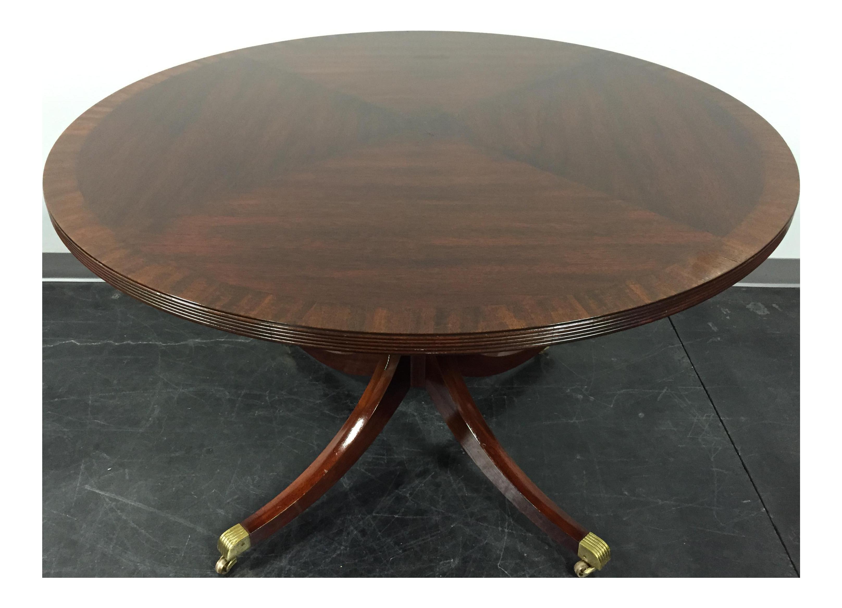HENKEL HARRIS HANCOCK U0026 MOORE Round Mahogany Pedestal Dining Table