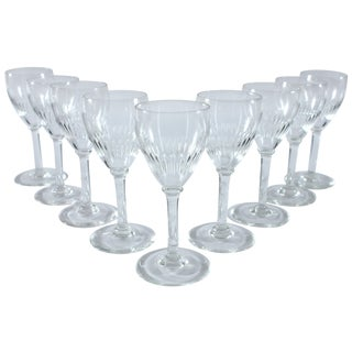 Vintage Stemmed Cordial Glasses - Set of 9