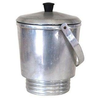 Italian Aluminum Mid-Century Ice Bucket