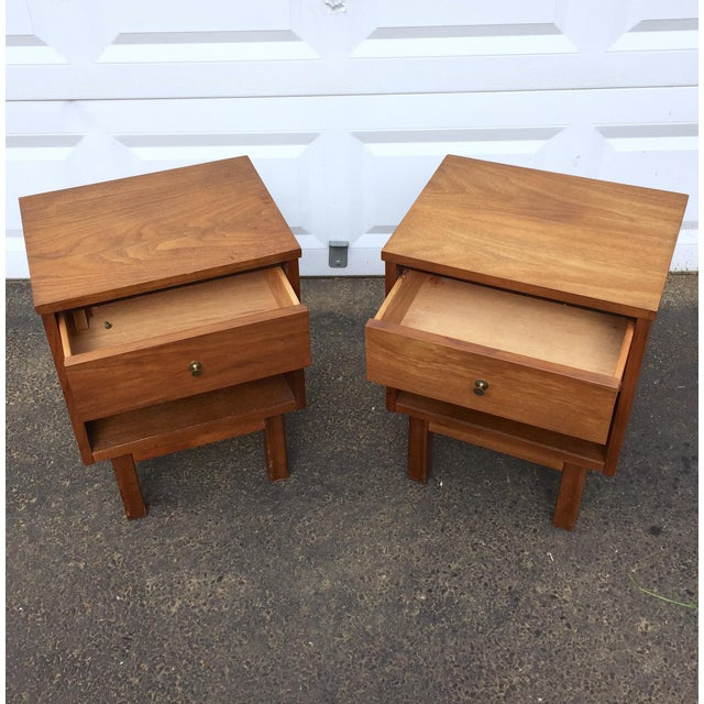 Mid-Century Modern Nightstands - A Pair - Image 4 of 11