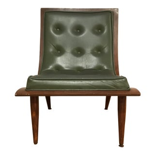 Mid-Century Modern Scoop Chair in Green