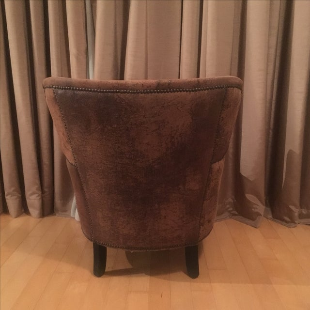 Professor's Leather Chair With Nailheads - Image 5 of 5