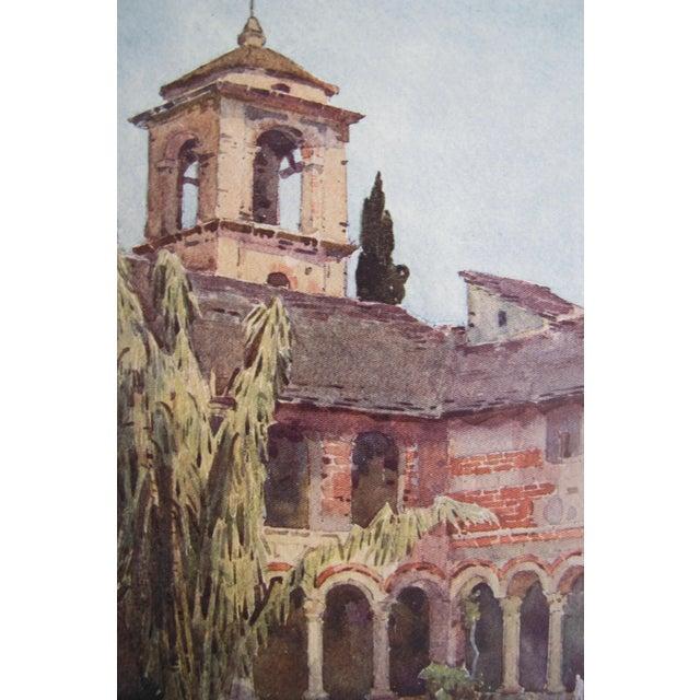 1905 Ella du Cane Print, Il Chiostro di Piona, Lago di Como - Image 3 of 5