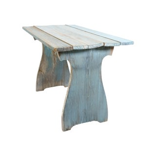 Beachy Blue Rustic Table