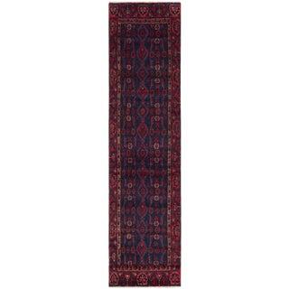 "Vintage Hamadan Persian Rug - 3' x 13'4"""