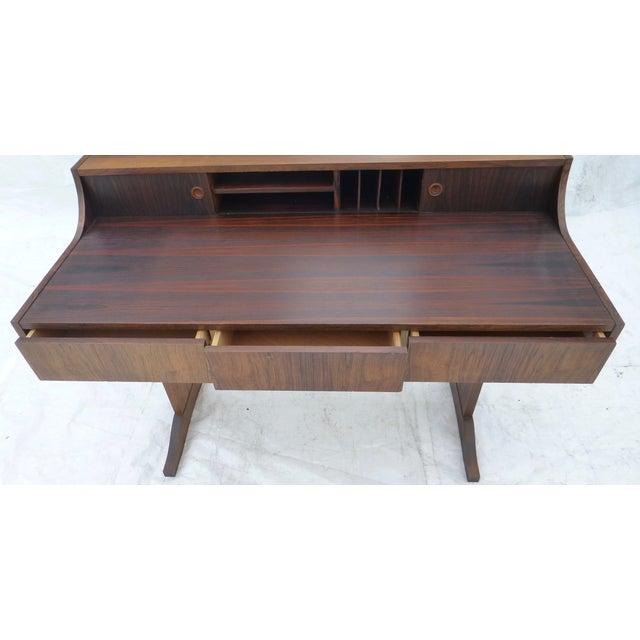 Midcentury Danish Modern Rosewood Desk - Image 11 of 11