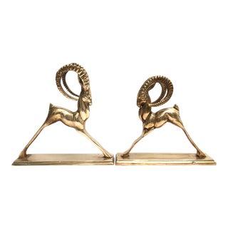 Stylized Brass Rams - Set of 2