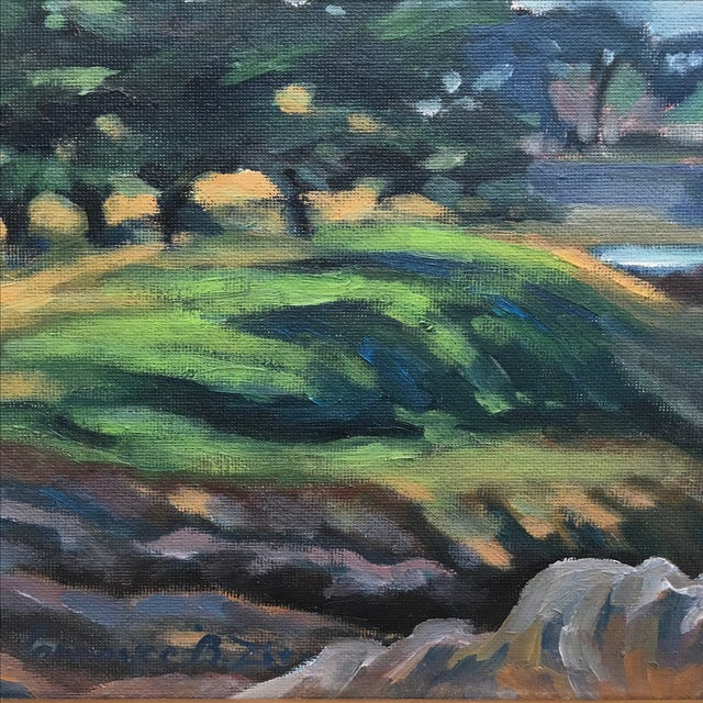 Abstract Seaside Landscape Painting Pacific Grove - Image 5 of 11