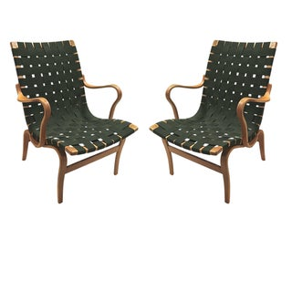 1960 Pair of Bruno Mathsson Eva Chairs with Arms