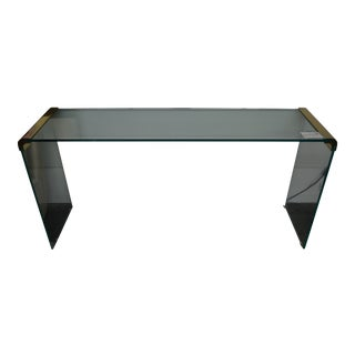 Leon Rosen for Pace Glass & Brass Console