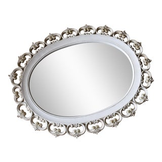 Syroco Wood Vintage Oval Mirror