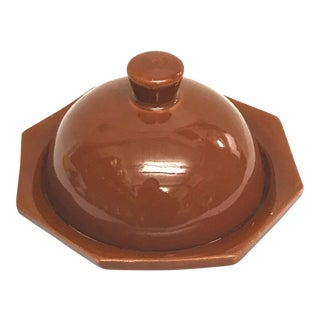 Hand Painted Brown Moroccan Ceramic Serving Dish