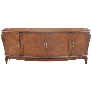 French Art Deco Jules Leleu Rosewood Marquetry Sideboard / Buffet Circa 1940S.