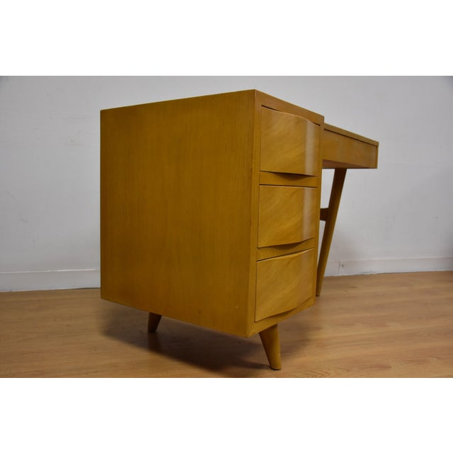 Red Lion Bleached Mahogany Vanity Desk and Chair - Image 9 of 11