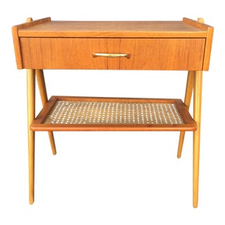 Vintage Danish Mid Century Modern Teak & Oak Side Table