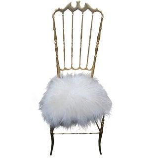 Italian High Back Brass Chiavari Chair
