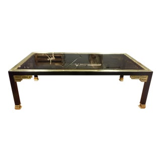 1970's Jansen Style Glass Top Coffee Table