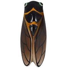 Majolica Cicada Wall Pocket