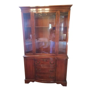 Duncan-Phyfe Style Mahogany China Hutch by Drexel