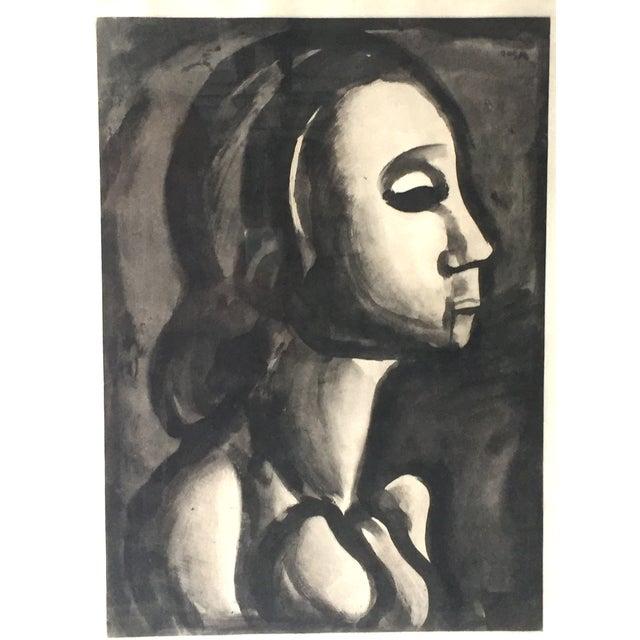 Georges Roualt Portrait of Woman 1922 - Image 3 of 5