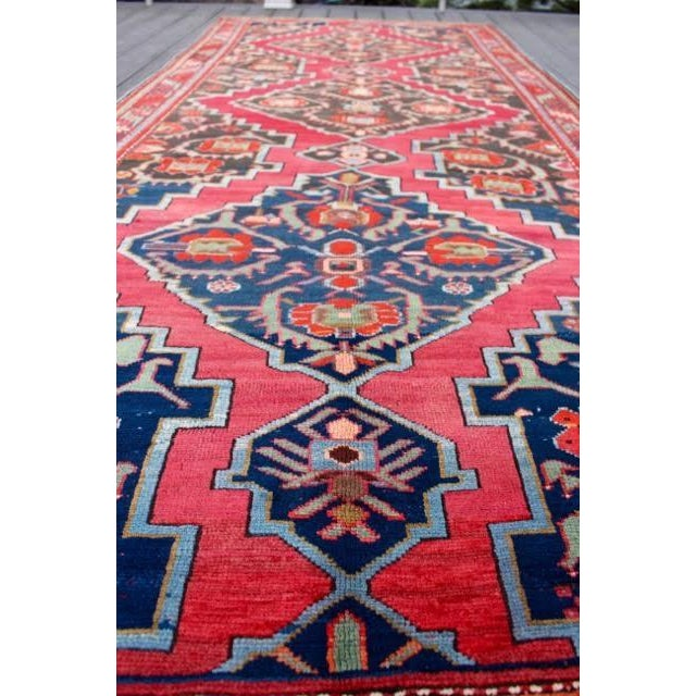 "Semi-Antique Caucasian Kazak Runner - 4'4"" x 10'1"" - Image 3 of 9"
