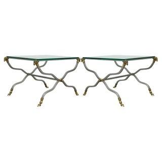 Maison Jansen Brass Head-Hoof End Tables - Pair