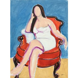 Seated Woman II - Oil Painting