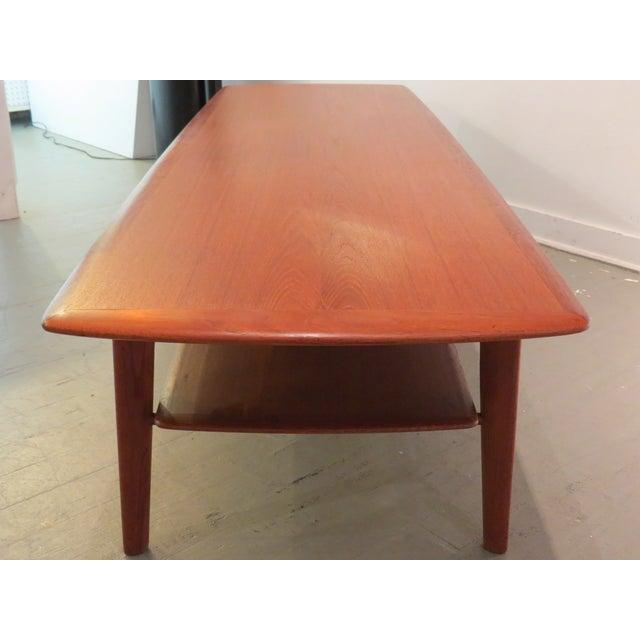 Image of Vintage Mid-Century Danish ModernTeak Coffee Table