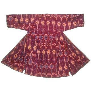 Antique Uzbek Silk Ikat Robe