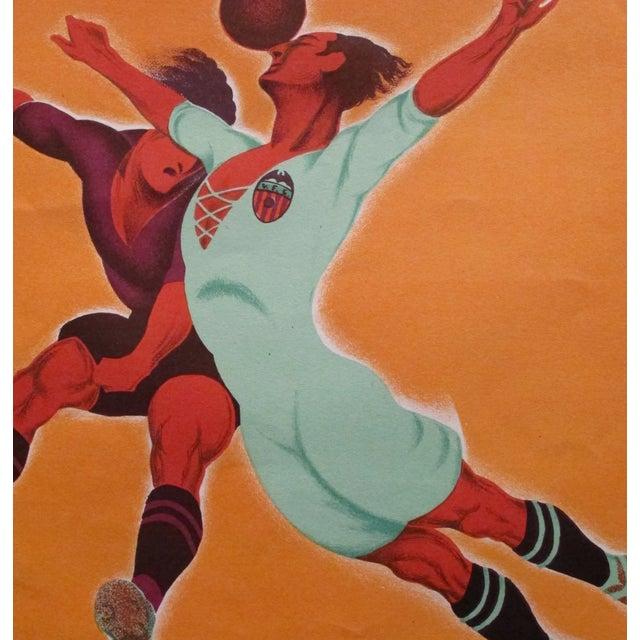 Original Vintage 1929 Soccer Poster for Spain - Image 3 of 4