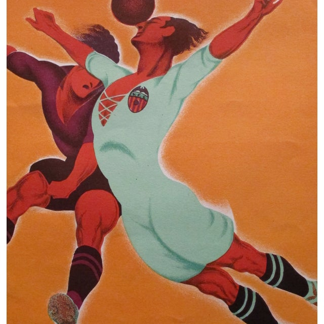 Image of Original Vintage 1929 Soccer Poster for Spain