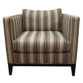 Striped Baker Club Chair