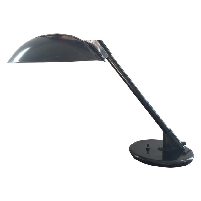 Vintage Black Metal Atomic Desk Lamp - Image 1 of 11