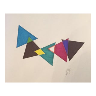 Tony Curry 9 Color Geometric Ink Drawing