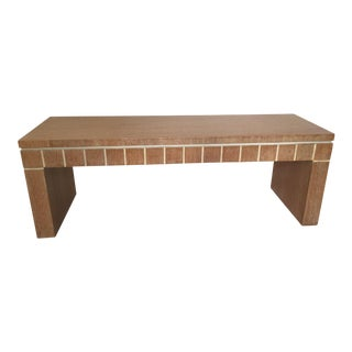 Cerused Finish Oak Bench