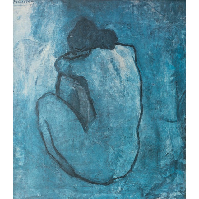 Image of Mid Century Blue Nude Picasso Reproduction Print