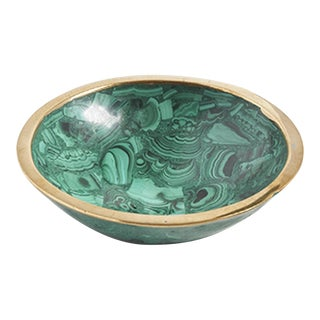 Green Malachite Decorative Bowl