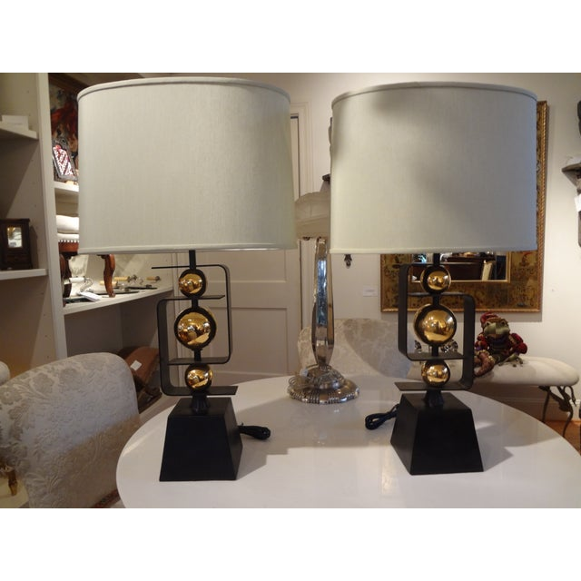 Image of Italian Hollywood Regency Table Lamps - A Pair
