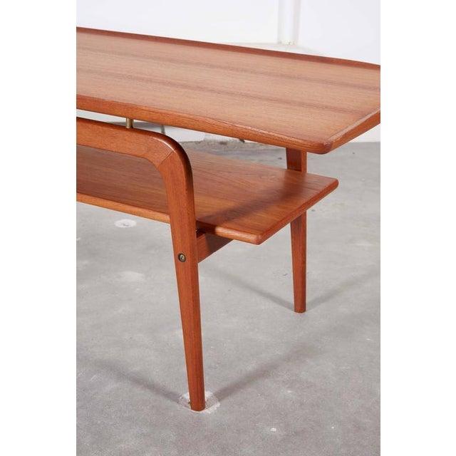Danish Coffee Table with Shelf - Image 6 of 6