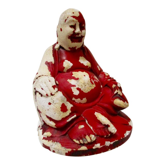 Vintage Red Happy Buddha - Image 1 of 10