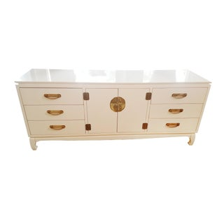 Chinoiserie Style White Chest