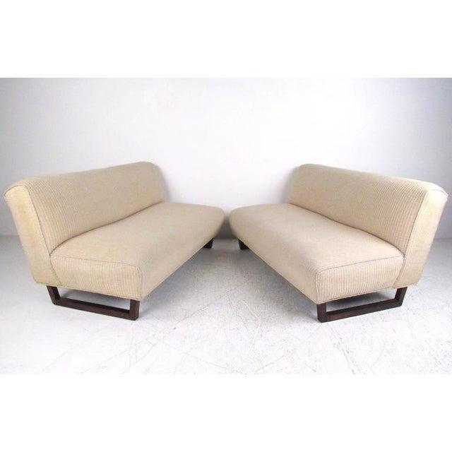 Vintage Modern Sled Leg Slipper Sofas - A Pair - Image 2 of 10