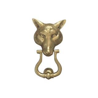 Solid Brass Fox Door Knocker