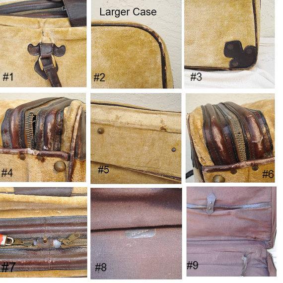 Saks Fifth Avenue Vintage Italian Suitcases - Pair - Image 6 of 6