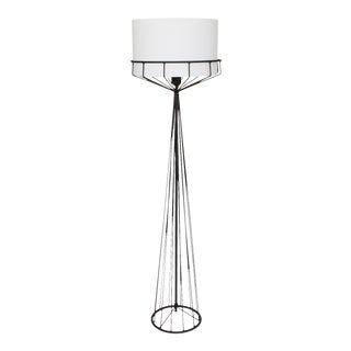 Tony Paul Black Iron Wire Frame Floor Lamp