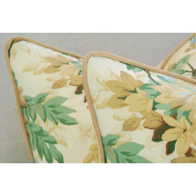 Designer Brunschwig & Fils Foliage Pillows - Pair - Image 9 of 11
