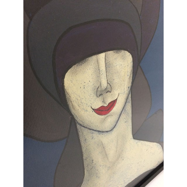 Witty Portait of Woman in Hat & Red Lips - Image 3 of 5